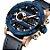 Relógio Dual Time NAVIFORCE pulseira de couro  - Imagem 2