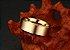 Linda aliança de tungstênio não arranha 8mm, folheada a ouro 18k - Imagem 4