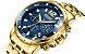 Relógio masculino dourado esportivo  Megir Cronometro - Imagem 1