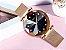 Relógio feminino dourado com pulseira de imã  - Imagem 2