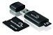 PEN DRIVE 8GB MULTILASER COM CARTÃO SD/MICRO SD MC058 PRETO - Imagem 1