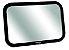 Espelho Retrovisor Retangular para Carro Square - Clingo - Imagem 1