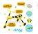 Triciclo Infantil Dobrável Amarelo/Preto - Clingo - Imagem 2