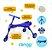 Triciclo Infantil Dobrável Azul/Cinza - Clingo - Imagem 2