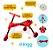Triciclo Infantil Dobrável Vermelho/Preto - Clingo - Imagem 2