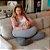 Almofada de Amamentação Cinza Mescla Infanti - Imagem 2