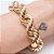 Pulseira dourada de elos cordão baiano  - Imagem 1