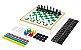 Jogo 6 em 1 -  Xadrez, Damas, Trilha, Ludo, Pega-Varetas e Dominó - Imagem 1
