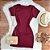 Vestido Manguinha Canelado - Imagem 1