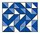 Adesivo de Parede Vinílico Triangular 6 100x60cm - Imagem 2