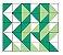 Adesivo de Parede Vinílico Triangular 7 100x60cm - Imagem 2