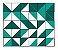 Adesivo de Parede Vinílico Triangular 8 100x60cm - Imagem 2