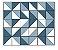 Adesivo de Parede Vinílico Triangular 12 100x60cm - Imagem 2