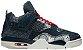 Tênis Nike Air Jordan 4 Retro SE Sashiko - Deep Ocean - Imagem 1