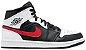 Tênis Nike Air Jordan 1 Mid - Black Chile Red - Imagem 1