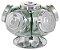 Baleiro Giratório De Vidro 28 Cm 5 Potes Bomboniere Balas Bombons 2,5 Litros - Imagem 1