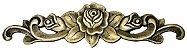 Aplique Em Bronze Móveis Floral Grande 34 X 9 Cômoda Flores - Imagem 1