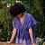 kimono Bandage Roxo algodão - Imagem 1