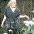 kimono Bandage Marinho algodão - Imagem 1