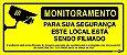 Placa Monitoramento Local Filmado C/Lei Ps646 30x13 - Imagem 1