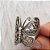 Anel Prata Borboleta Envelhecida - Imagem 2