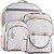 Kit Bolsas de Maternidade Matelassê Pérola Com Cinza - Baby Bless (4 peças) - Imagem 1