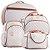 Kit Bolsas de Maternidade Matelassê Pérola Com Caramelo - Baby Bless (4 peças) - Imagem 1