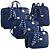 Kit Bolsas de Maternidade Candy Azul Marinho - Just Baby (4 peças) - Imagem 1