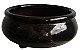 vaso bonsai esmaltado preto - 1 unidade - Imagem 1