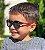 Óculos de Sol Infantil Flexível Redondo Esportivo com Lente Polarizada e Proteção UV400 Preto e Vermelho - Imagem 6