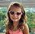 Óculos de Sol Infantil com Proteção UV400 Coração Acetato Teen Rosa Nude - Imagem 9