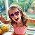 Óculos de Sol Infantil com Proteção UV400 Coração Acetato Teen Vermelho - Imagem 5