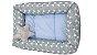 Ninho Redutor - Bebê Chevron Azul Claro - C/ Almofada - Imagem 1