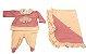 Saída de Maternidade Bordado Rosas - Imagem 1