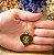 Gargantilha Coração Grande Personalizado qualquer Curso ou Profissão - Banhado a Ouro 18k - Imagem 4