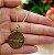 Gargantilha Mandala Personalizada Pai Nosso Evangélico - Banhado a Ouro 18k - Imagem 4