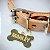 Pingente Osso para coleira PETS com gravação frente e verso - Banhado a Ouro 18k - Imagem 1