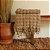 Manta Decorativa Vazada  - 100% Algodão Orgânico com Tingimento Natural - Imagem 1
