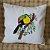 Capa de Almofada Bordada Tucano Colorido - Tecido Algodão Cru - Imagem 1