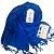 """""""KIT REIKI 6º CHAKRA"""" (pashmina azul médio + gargatilha cho-ku-rei com strass chakras + pedras dos 7 chakras pequena) - Imagem 1"""