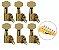 Tarrachas Tarraxas Com Trava Linha Para Guitarra Dourada-Cromada-Preta - Imagem 4