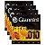Kit Com 04 Jogos De Cordas Para Violão Aço 010 Acústico Giannini - Imagem 1