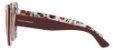 Solar Dolce&Gabanna DG 4348 3202 Vinho com estampa florida por dentro e lentes rosé  - Imagem 2