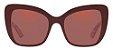 Solar Dolce&Gabanna DG 4348 3202 Vinho com estampa florida por dentro e lentes rosé  - Imagem 1