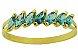 Meia Aliança em Ouro Amarelo 18k com Zircônias Azuis - Imagem 2