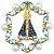 Pingente Nossa Senhora em Ouro 18 com pérolas e Topazios - Imagem 1