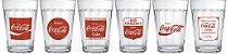 Jogo com 6 Copos Americano Linha do Tempo Coca-Cola 190ml - Nadir Figueiredo - Imagem 1