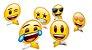 Decoração De Mesa - Emoji c/ 8 unidades - Imagem 1