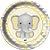 Prato - Elefantinho Amarelo c/ 8 unidades - Imagem 1