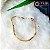 Pulseira Dourada com Elos Quadrados - Imagem 2